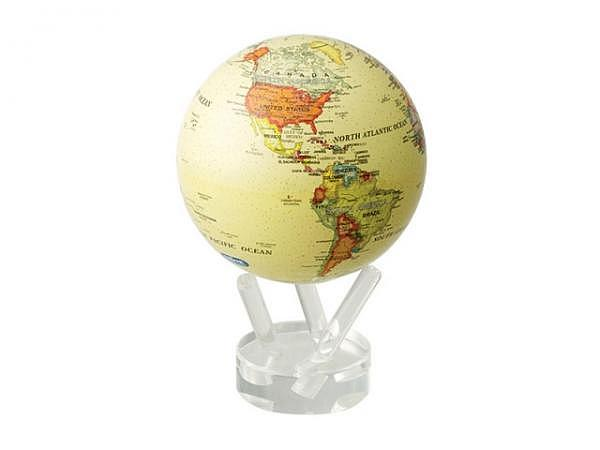 Globus Mova Globe Antik 11,5cm Wurzelholz-Fuss