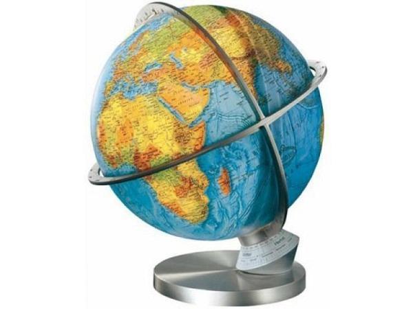 Globus Columbus Panorama Planet Erde Metall-Fuss, Akrylglas