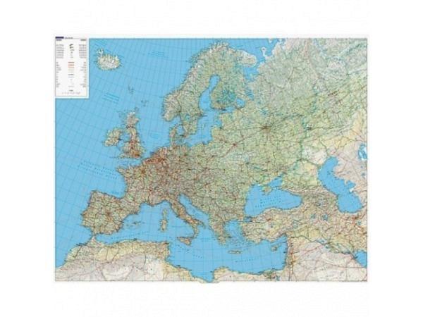 Landkarte Europa Physikalisch Massstab: 1:4 5 000 000