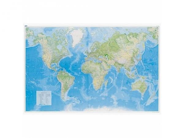 Landkarte Welt Physikalisch Massstab: 1:23 000 000