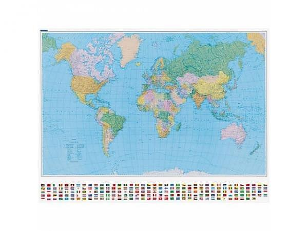 Landkarte Welt Politisch Massstab: 1:30 000 000, 140x99cm