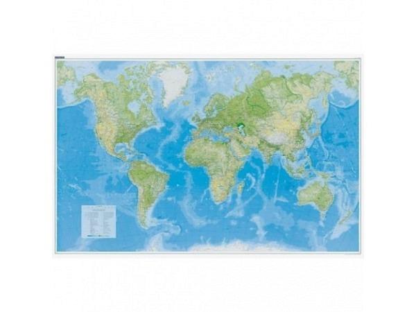 Landkarte Welt Physikalisch Massstab: 1:30 000 000