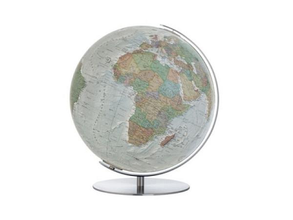 Globus Columbus Duo Alba 34cm samtartig grau