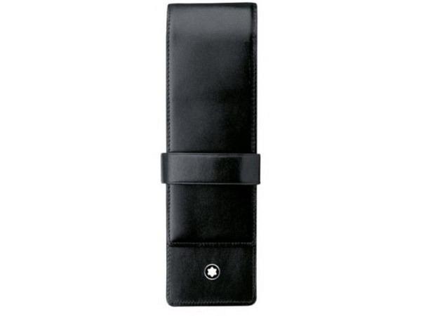 Stiftetui Montblanc Meisterstück schwarz 4.5x16cm Überschlag