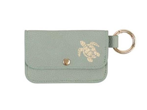 Portemonnaie Asia mit goldenem Bügelclipverschluss 8x6cm