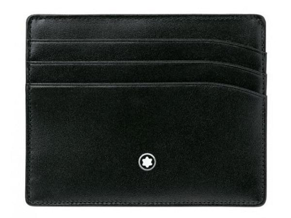 Kreditkartenetui Montblanc Meisterstück 6cc schwarz 8x10cm