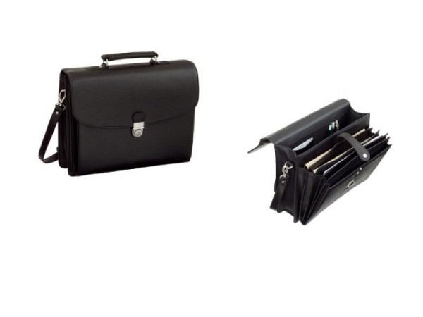 Tasche Alassio Forte Lederimitat schwarz, mit Traggriff