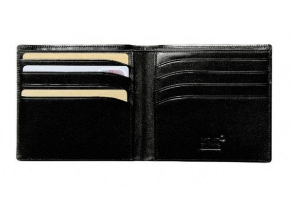 Portemonnaie Montblanc Meisterstück schwarz 9,5x10,5cm quer