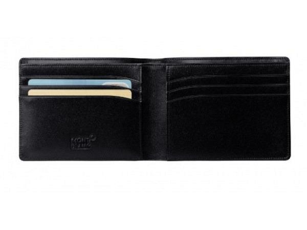 Portemonnaie Montblanc Meisterstück schwarz 8,5x11,5cm quer