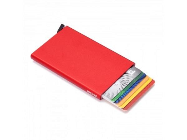 Kreditkartenetui Secrid Cardprotector rot Alu für 6 Kart.