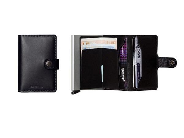 Kreditkartenetui Secrid Miniwallet original schwarz Leder