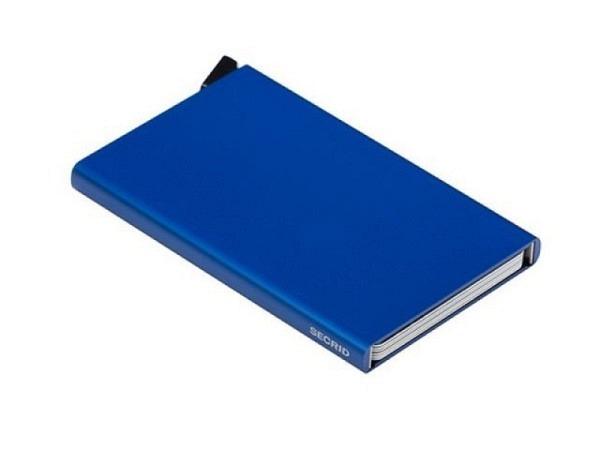 Kreditkartenetui Secrid Cardprotector blau Alu für 6 Karten