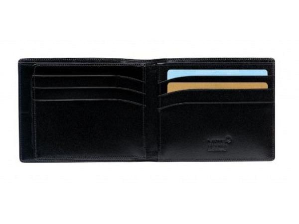 Portemonnaie Montblanc Meisterstück schwarz 9x11cm quer