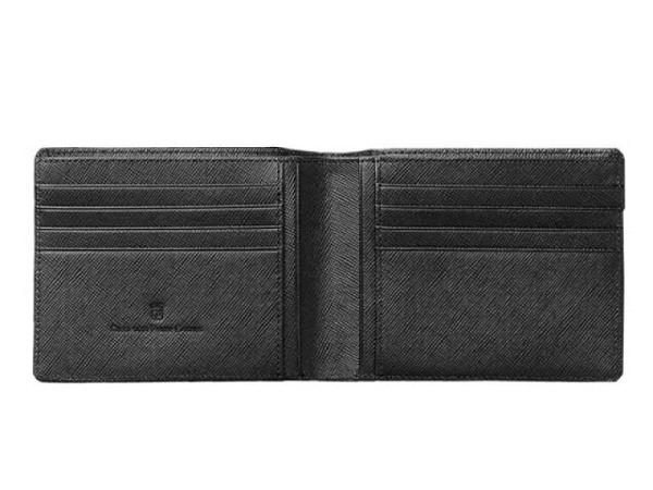Kreditkartenetui Graf von Faber-Castell Saffiano schwarz