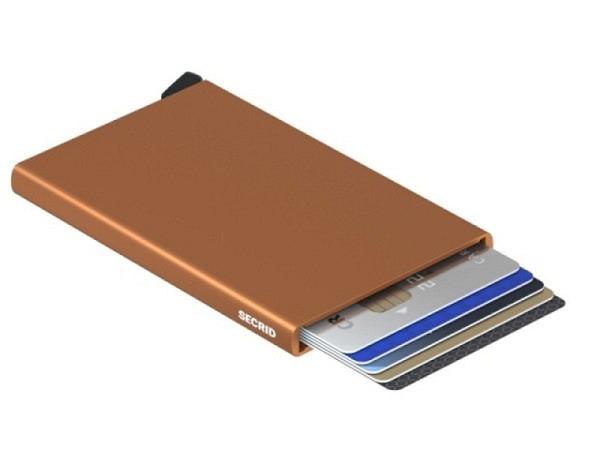 Kreditkartenetui Secrid Cardprotector Rust bronze Aluminium