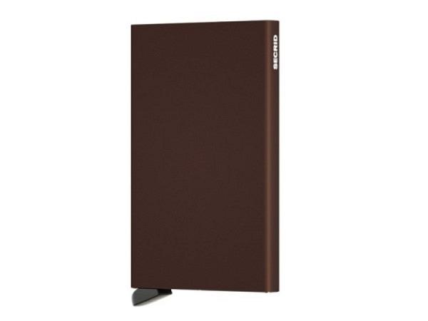 Kreditkartenetui Secrid Cardprotector brown Aluminium