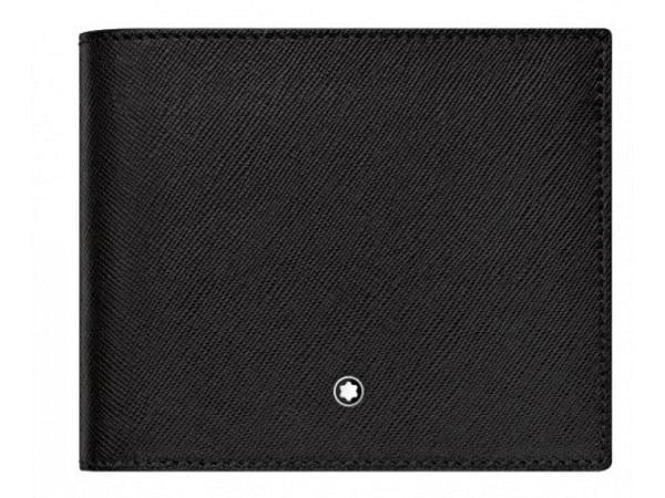 Portemonnaie Montblanc Sartorial 8cc schwarz 9,5x10,5cm quer