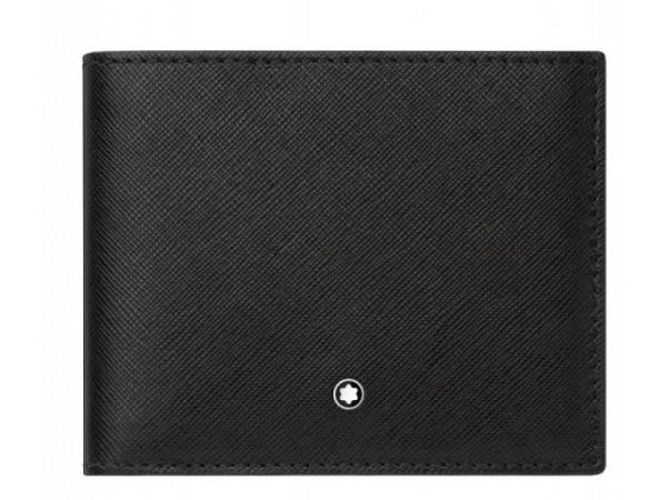 Portemonnaie Montblanc Sartorial 6cc schwarz 9,2x11,5cm quer