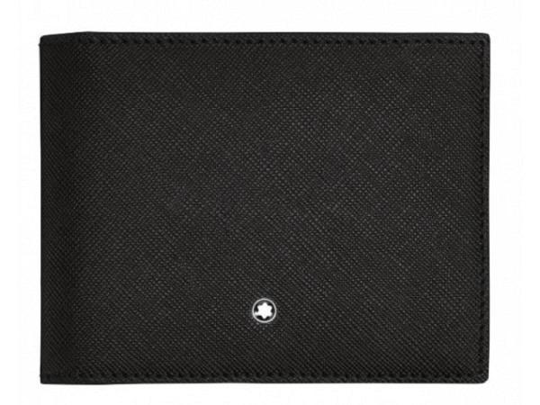 Portemonnaie Montblanc Sartorial 4cc schwarz 8,6x11,2cm quer