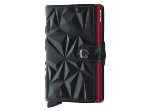 Kreditkartenetui Secrid Miniwallet Special Prism schwarz-rot