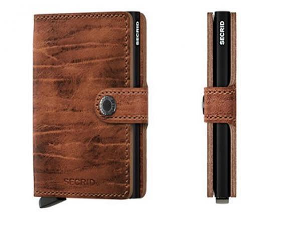 Kreditkartenetui Secrid Miniwallet Dutch whiskey Leder