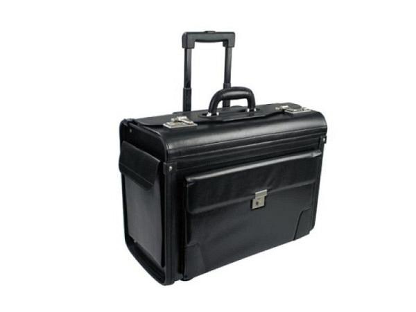 Pilotenkoffer Büroline schwarz aus hochwertigem Kunstleder