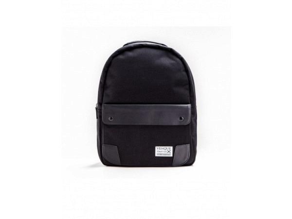 Rucksack Venque Classic Black Leather Edition schw. 45x30cm