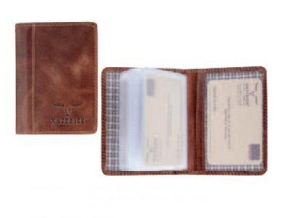 Kreditkartenetui Brepols Maverick Dallan Mark 2 braun
