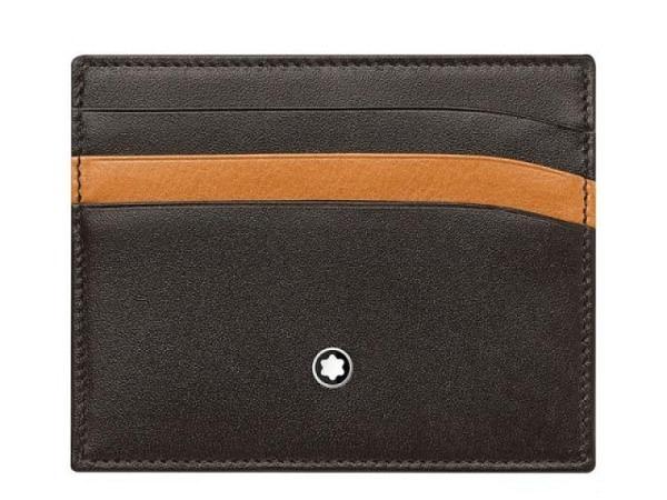Kreditkartenetui Montblanc Meisterstück Pocket 6cc Brown-Tan