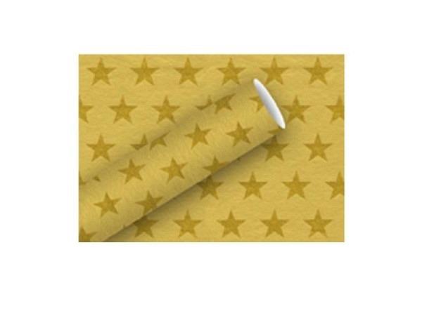 Geschenkpapier Braun+Company Stars gold 70cmx1,5m