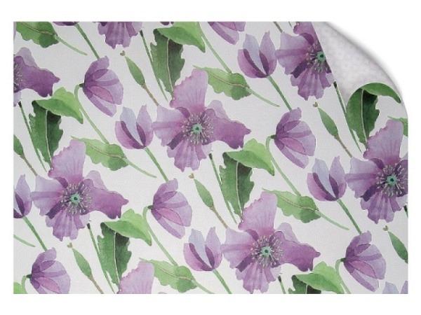 Geschenkpapier Rotolux Christmas Holographic Eiskristalle auf Pflaume