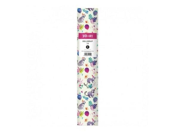 Geschenkpapier Rotolux unicolor, brown kraft, goldenes Papier