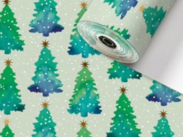 Geschenkpapier Rotolux unicolor, brown kraft, dark blue