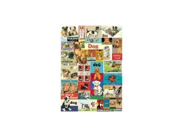 Geschenkpapier Cavallini Vintage Dogs viele versch. Hunde