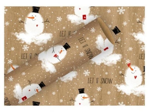 Geschenkpapier Braun+Company Bobby Snow Kraftpapier 70cmx2m auf Rolle