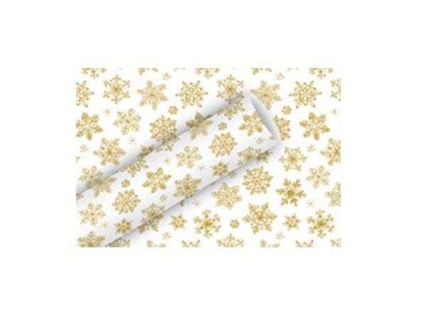 Geschenkpapier Braun+Company Snow Crystals Alu 70cmx1,5m