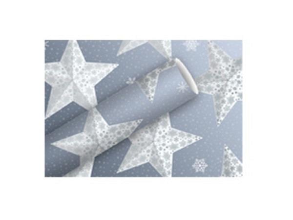 Geschenkpapier Braun+Company Paperstar silberblau Alu