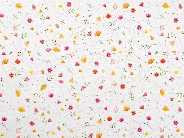 Geschenkpapier Goldbuch Turnowsky Wildflowers