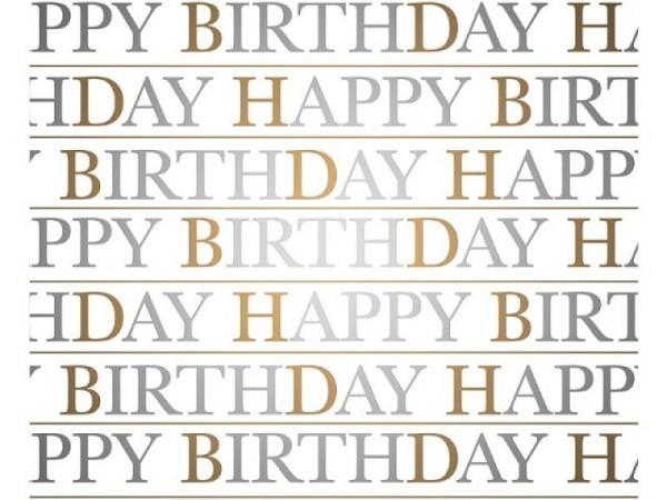 Geschenkpapier Rotolux unicolor white Kraft  green/fuchsia