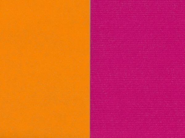 Geschenkpapier Rotolux unicolor white Kraft orange/fuchsia