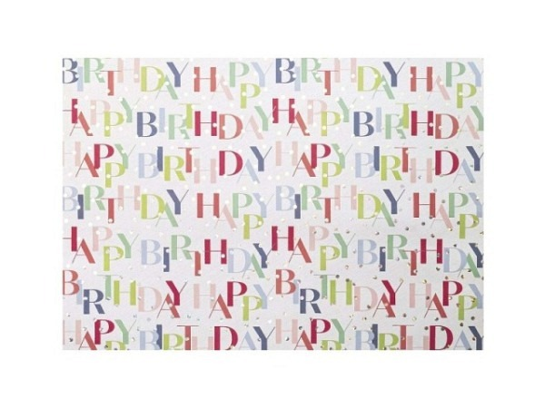 Geschenkpapier Artebene Happy Birthday Hologramm