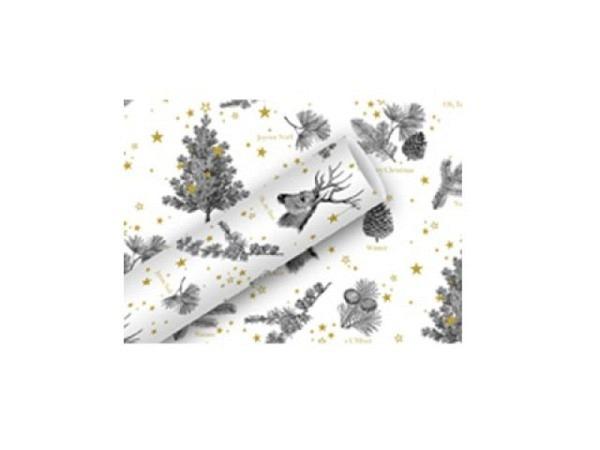 Geschenkpapier Braun+Company Oh, My Dear weiss 70cmx2m