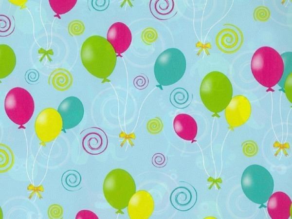 Geschenkpapier Rotolux Everyday Coated Ballone 70cmx2m