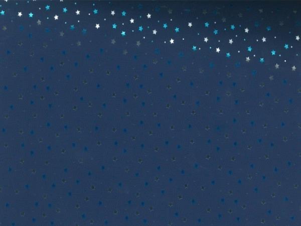 Geschenkpapier Silver/Blue Stars 70cmx3m