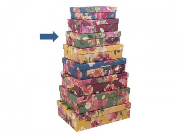 Geschenkschachtel Artebene Colours Streifen Grösse 3: 22x15,5x6cm