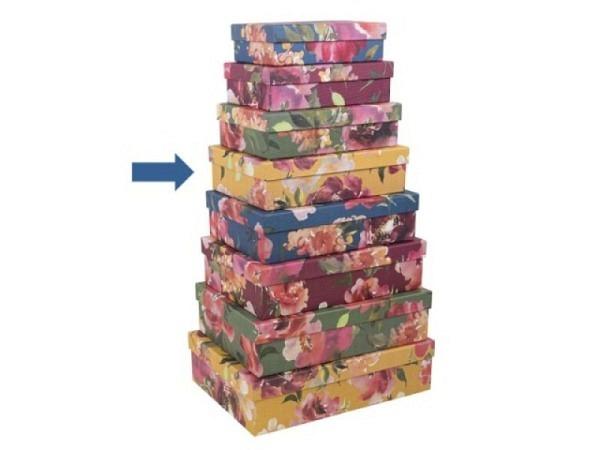 Geschenkschachtel Artebene Colours Blumen Grösse 4: 24x17,5x6,5cm