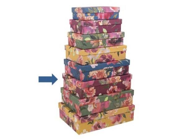 Geschenkschachtel Artebene Colours Dots Grösse 6: 28x19,5x7,5cm