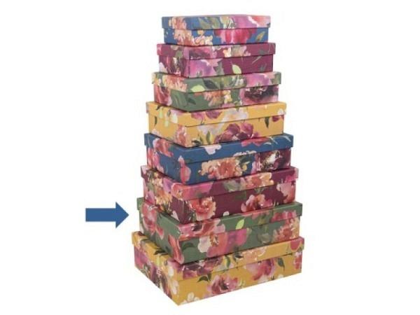 Geschenkschachtel Artebene Colours Streifen Grösse 7: 30x21,5x8cm