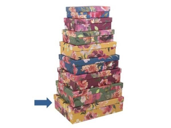 Geschenkschachtel Artebene Colours Blumen Grösse 8: 32x22,5x9cm