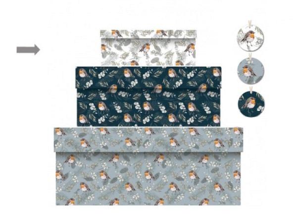 Geschenkschachtel Flamingo Summer rund Grösse 3